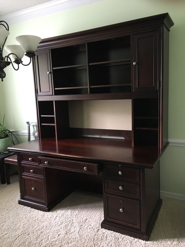 Credenza Office Desk With Hutch By Stanley Furniture Company