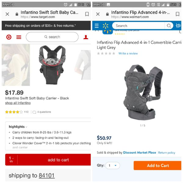 12985f22209 2 baby carriers for Sale in Salt Lake City