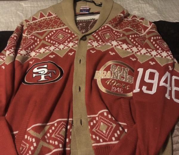 49ers Ugly Christmas Sweater Size L For Sale In Hayward Ca Offerup