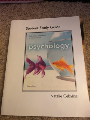 Psychology study guide paper back for Sale in Manassas, VA
