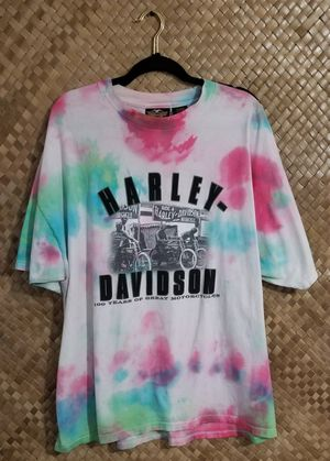 Photo Vintage 2001 HD Mens 2XL Harley Davidson Tie Dye Shirt
