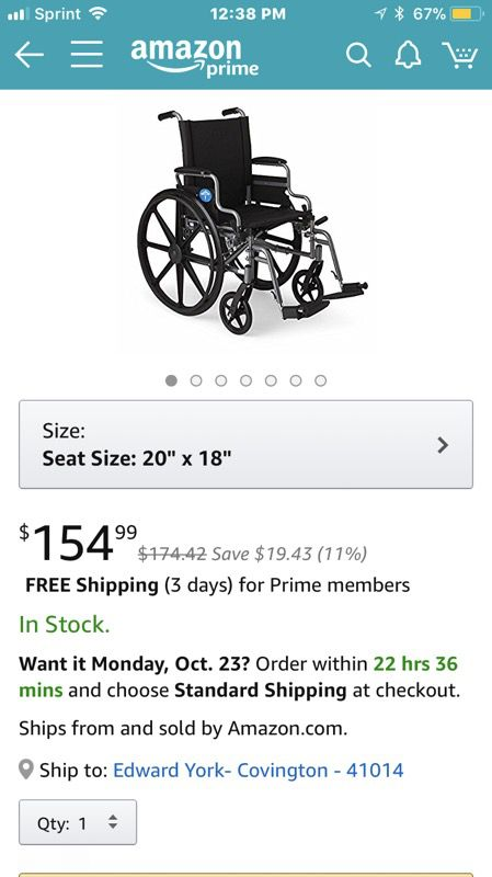 Wheelchair for Sale in Park Hills, KY - OfferUp