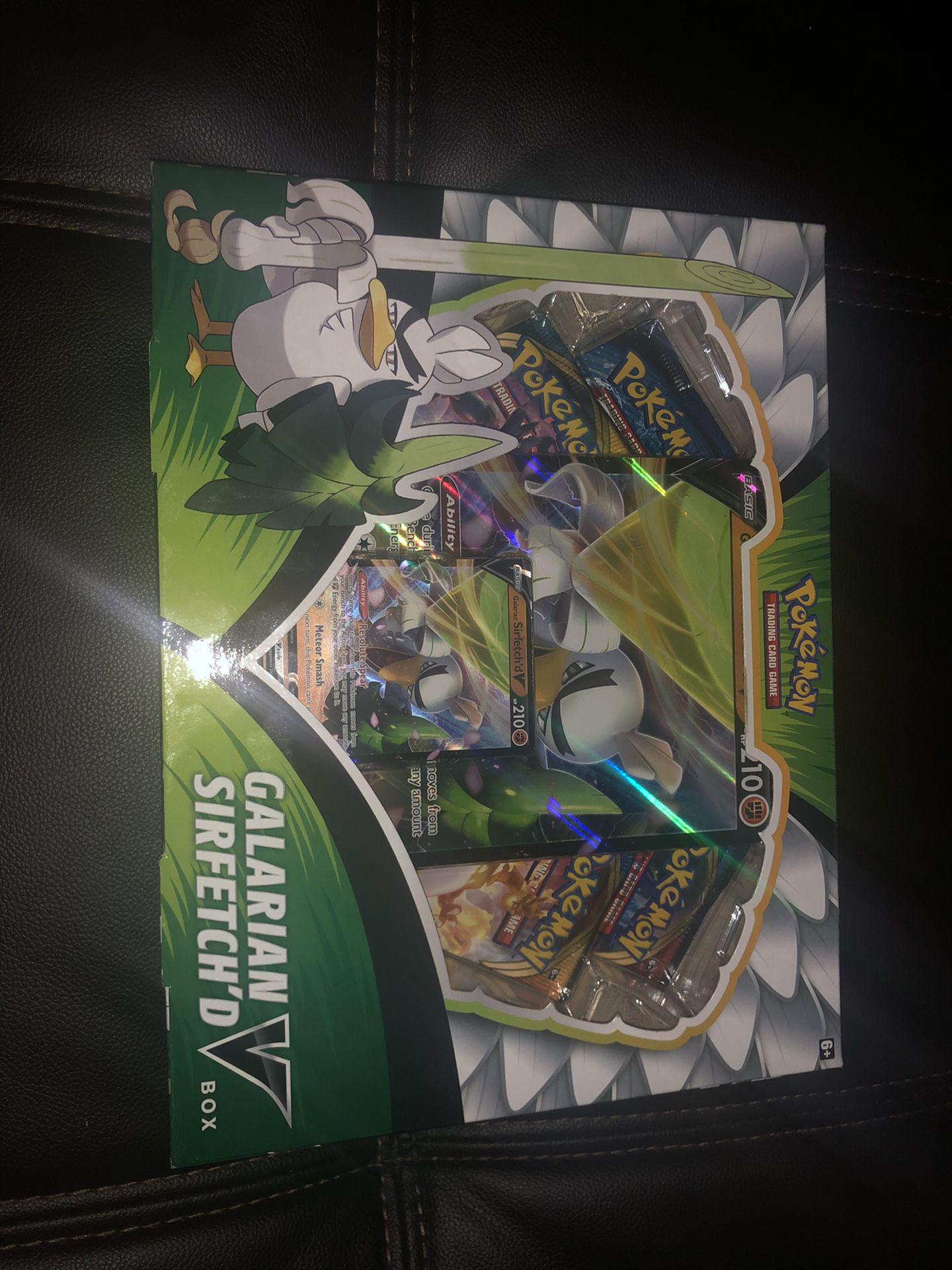 Pokemon Galarian Sirfetch'd V Box