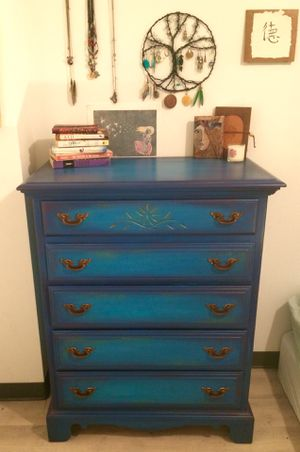 Hand Painted Teal Dresser for Sale in Washington, DC