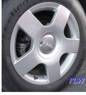 Photo 4 set of OEM 2005 Audi A4 rims and brand new all season tires