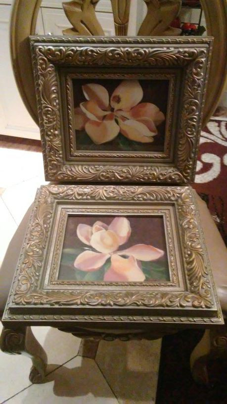 Home Interiors 2 Cuadros De Magnolias For Sale In San Jose Ca Offerup