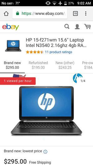 Hp laptop 15-F271wm for Sale in Las Vegas, NV