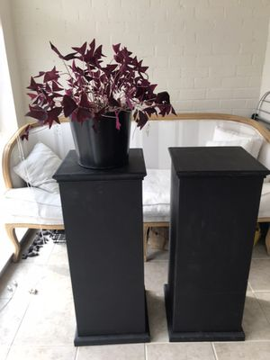 Wedding Black Chalk Matte Pedestals Pillars for Sale in Arlington, VA