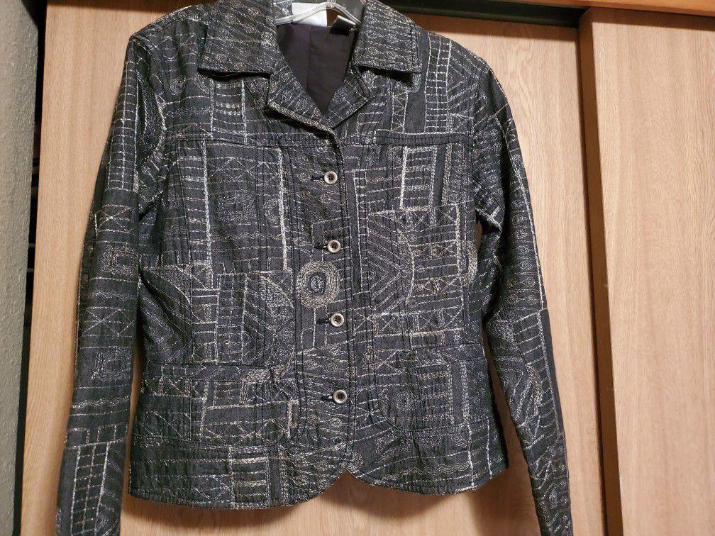 Designer Chico's Jacket, size small.
