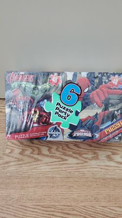 Avengers, Star Wars, & Spiderman... *6* Puzzle Party Pack Thumbnail