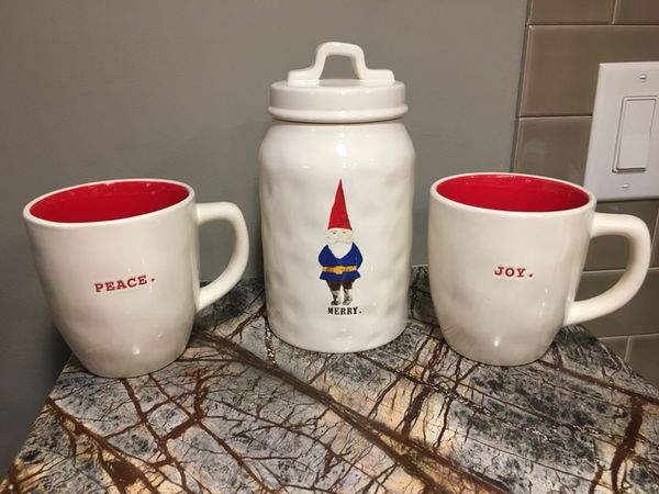 Rae Dunn Christmas.Rae Dunn Christmas Canister And Mugs Set For Sale In Pickens Sc Offerup