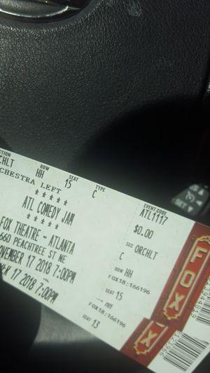 Atlanta Comedy Jam Fox Theatre for Sale in Smoke Rise, GA