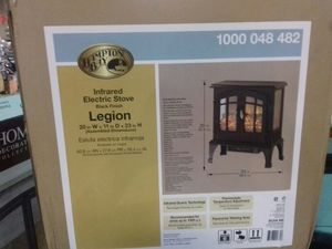 Hampton Bay infrared electric stove black finish Legion for Sale in Phoenix, AZ