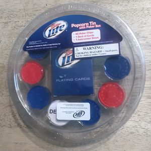 Miller Lite Poker Game set w/ cards and chips for Sale in Baltimore, MD