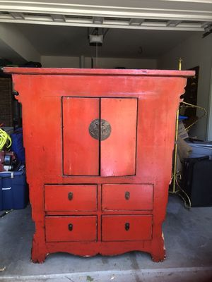 Unique Antique Asian Armoire for Sale in North Garden, VA