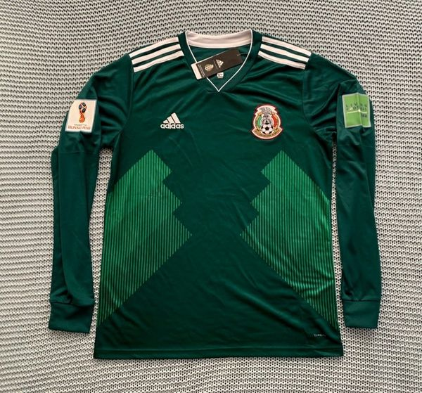 Mexico National Soccer Team New Men s Home Green Long Sleeve World Cup 2018  Soccer Jersey - Size Large 06503d101