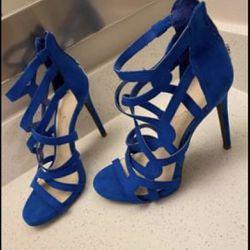 Size 7 Jessica Simpson Blue Heels Thumbnail