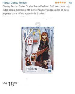 Disney Frozen 2 Sister Styles Anna Doll Thumbnail