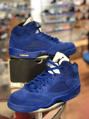 Blue suede 5s size 10 for Sale in Silver Spring, MD