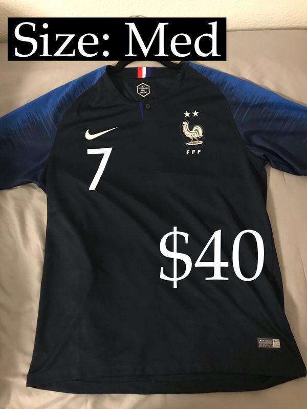 new product d00dc 7f38c 2018 World Cup Nike France Griezmann Soccer Jersey for Sale in Palo Alto,  CA - OfferUp
