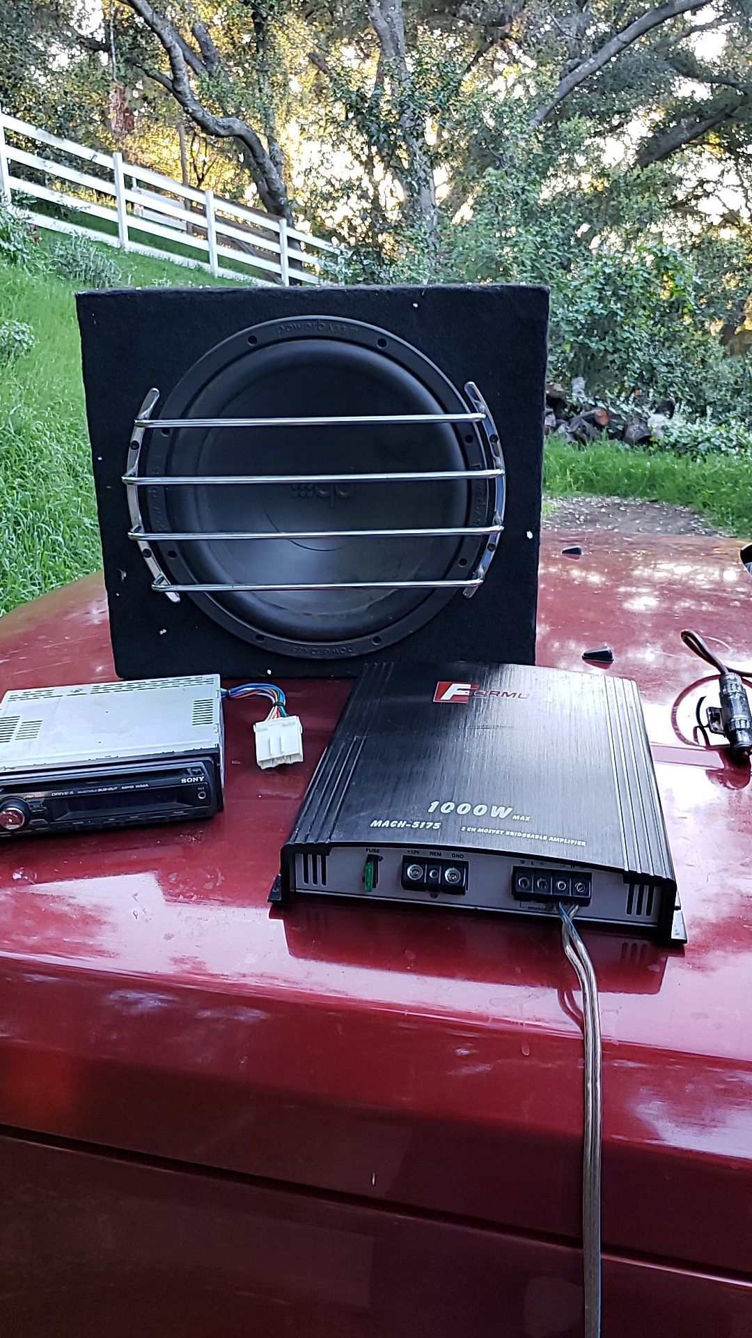 Sony Car sound system with Subwoofer and 1000w Amplifier