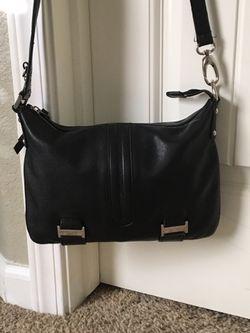 Black leather purse Thumbnail