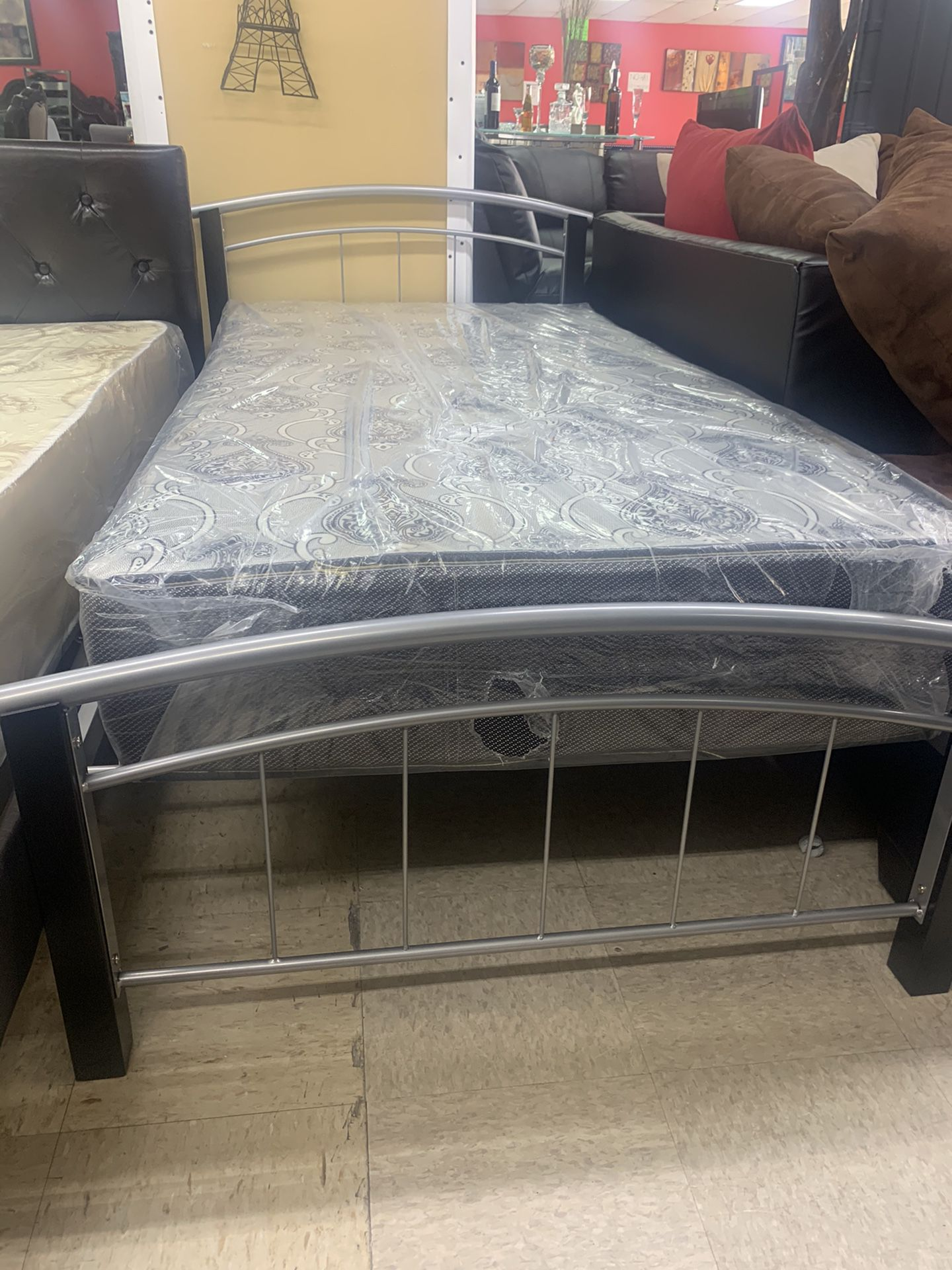 New twin bed with matreses for $150