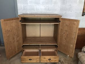"""Brown IKEA TV Entertainment Center Cabinet Armoire w/ Drawers 45""""x25"""" Width of TV Opening 40"""" for Sale in Silver Spring, MD"""