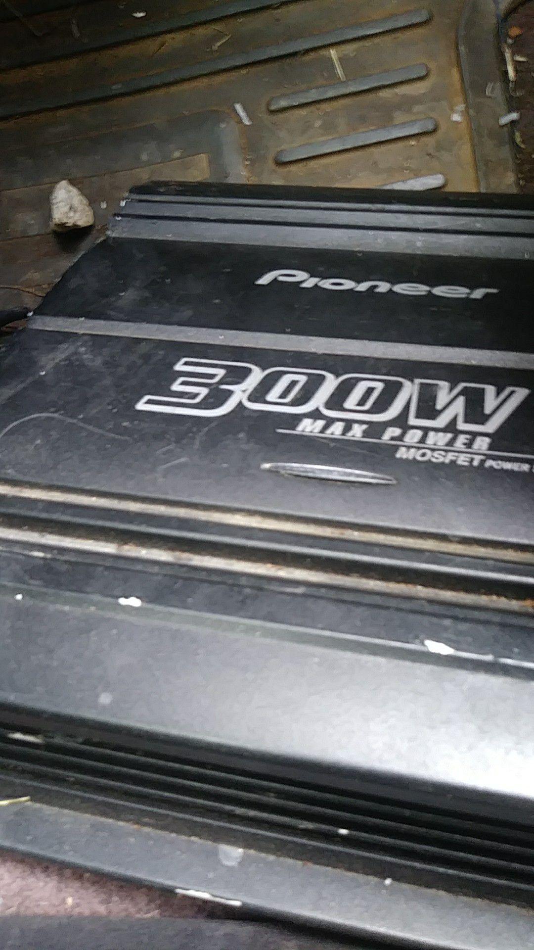 300 watt pioneer 2 channle an 4 chanle