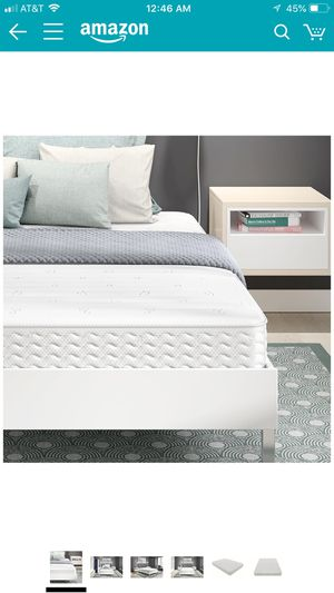 Signature Sleep Contour 8 Inch Reversible Independently Encased Coil Mattress with CertiPUR-US certified foam, Queen for Sale in Salt Lake City, UT