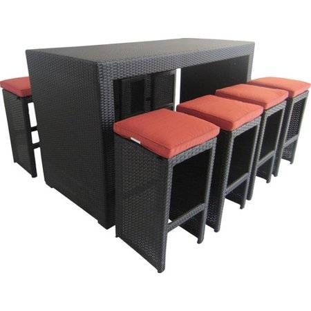 Amazing Outdoor Patio Resin Wicker Bar Counter Table Furniture W 5 Ibusinesslaw Wood Chair Design Ideas Ibusinesslaworg