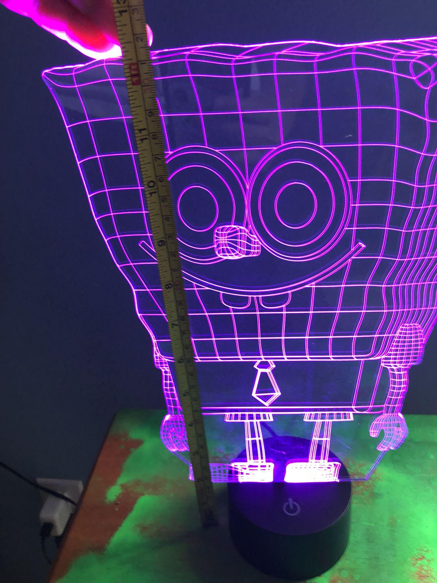 Kids Room Decoration Soccer Or Sponge Bob 3D Lamp