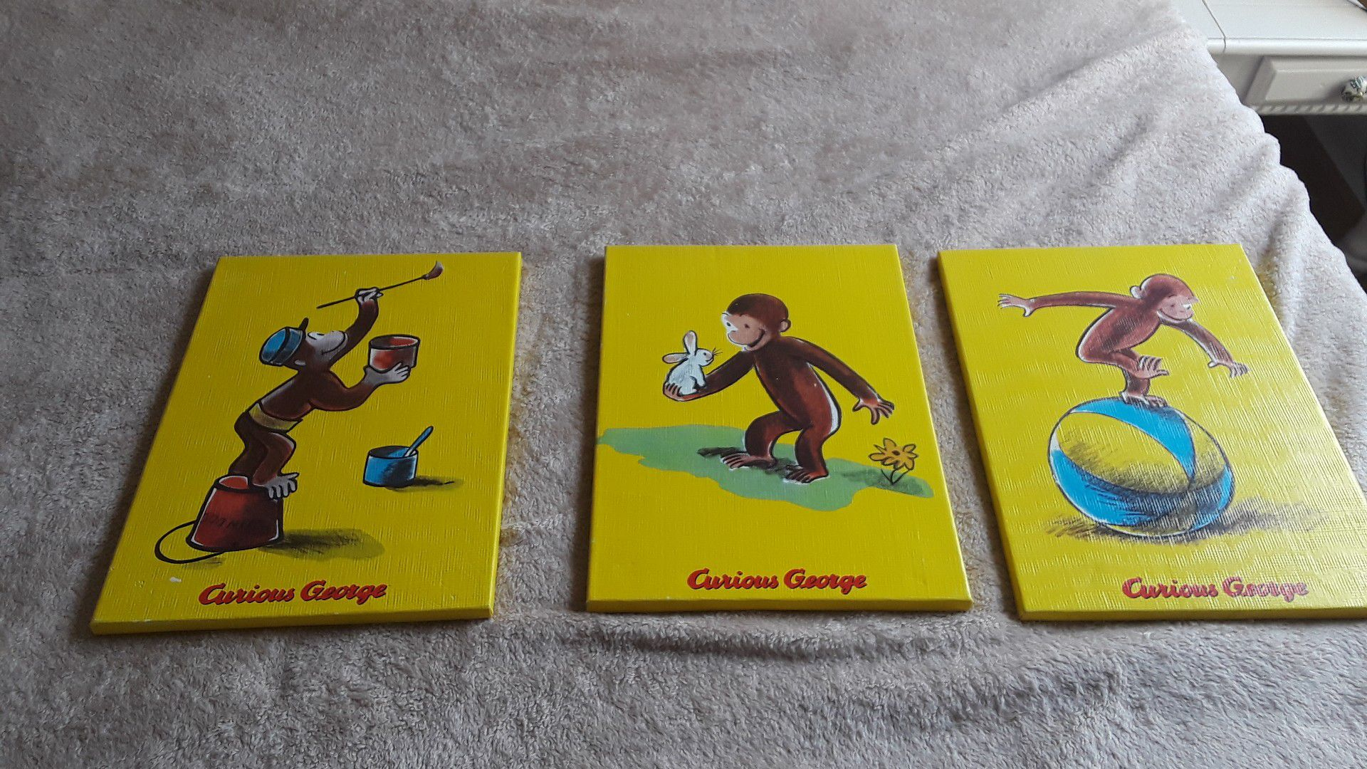 Curious George Paintings on Canvas