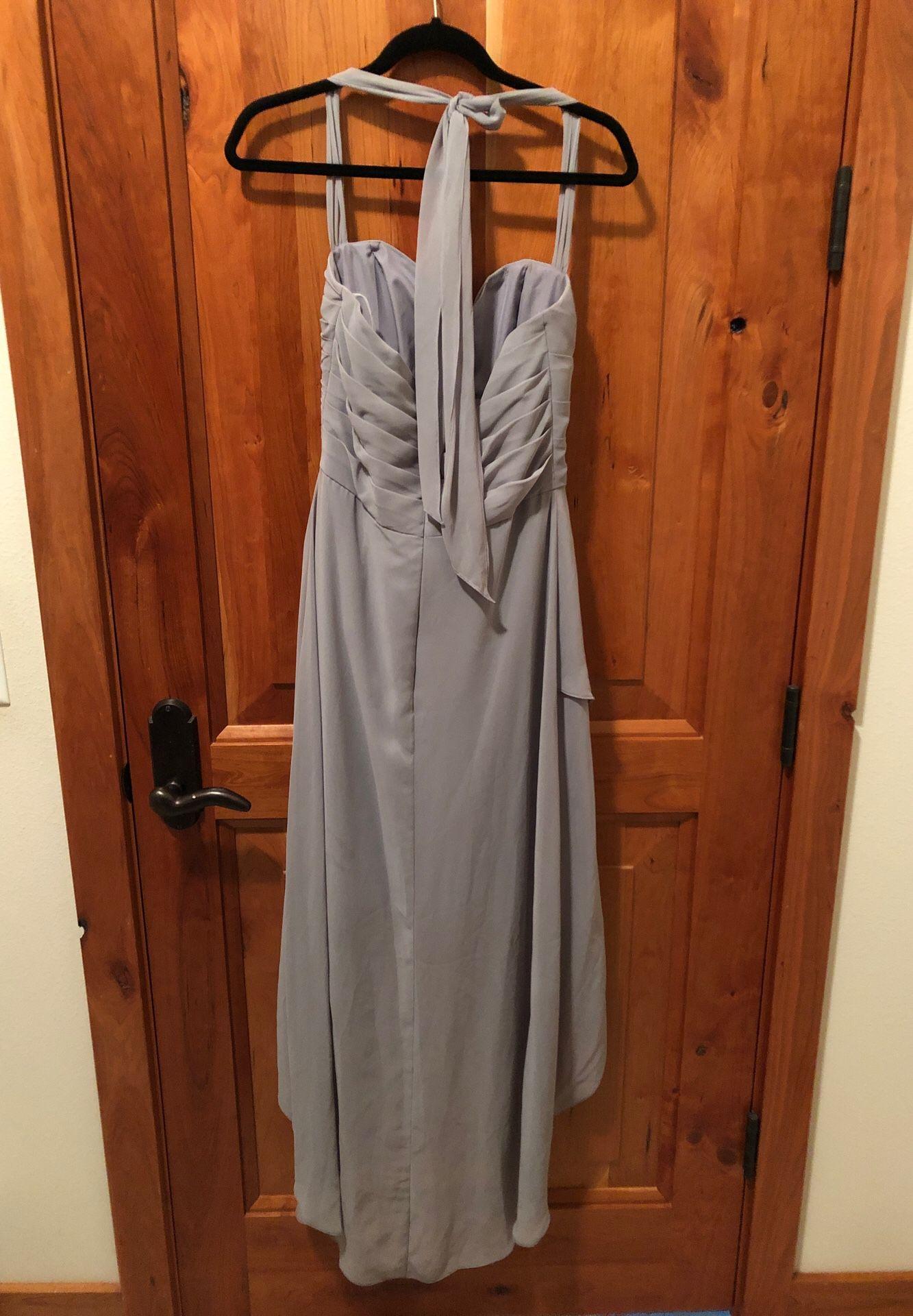 Belsoie Size 8 Grey Bridesmaid Dress