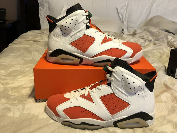 0278330f36d195 Men s Nike Air Jordan 6 VI Retro Gatorade Like Mike 384664-145 Summit White  Team Orange Black Size 12 Shoes New w  Box