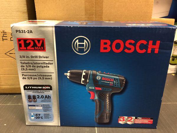 Bosch 12-volt 3/8' 2 speed drill  PS31-2A for Sale in Miami Beach, FL -  OfferUp