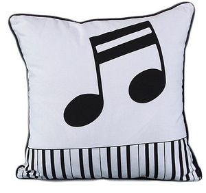 """Retro Black/White Musical Notes Musician Piano Keyboard 18"""" Accent Throw Pillow Cover 🎹🎼 for Sale in Fresno, CA"""