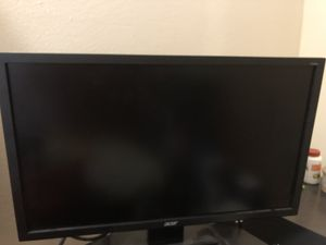 Almost new Acer V246Hl monitor with computer cable. for Sale in Herndon, VA