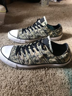 Photo Converse All Star Limited Edition Money Prints. SiZe 10 mens. Run big compared to nike.