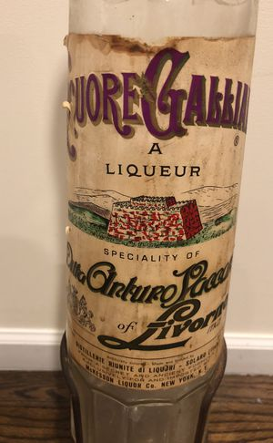 Vintage Italian Gallicanism Gallon Empty Glass Bottle for Sale in New York, NY