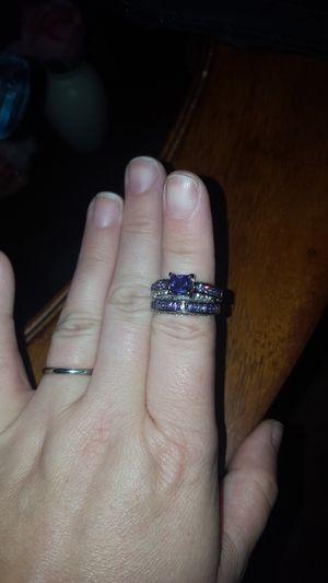 Size 7 purple wedding ring set for Sale in Concord, VA