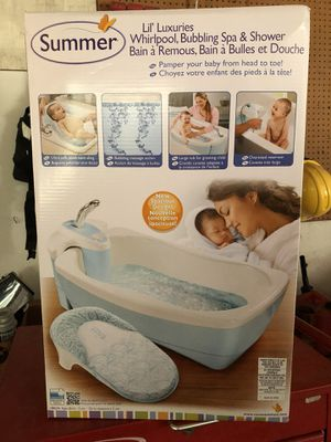 Summer Infant® Lil' Luxuries® Whirlpool, Bubbling Spa & Shower (Blue) for Sale in Manassas, VA