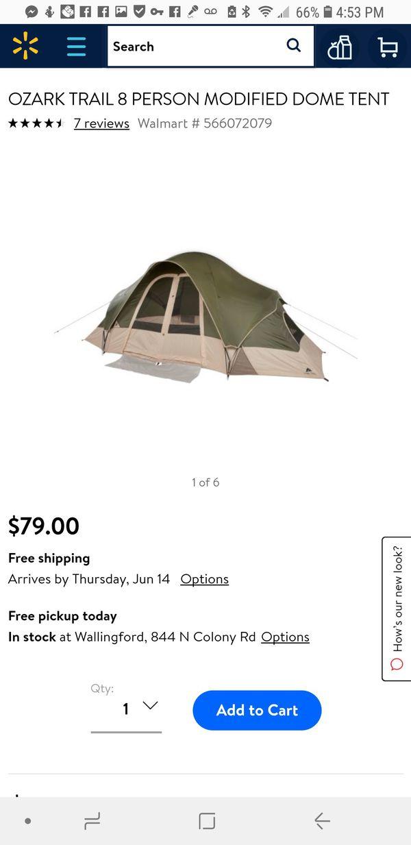 Ozark trail 8 person modified dome tent for Sale in New Britain, CT -  OfferUp