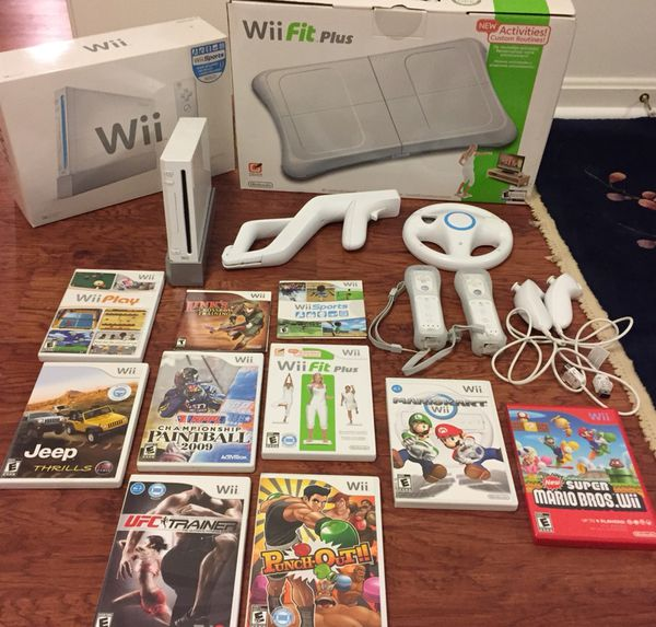 Nintendo Wii console & controllers BUNDLE: balance board,wii fit  plus,accessories & 9 games for Sale in Ashburn, VA - OfferUp