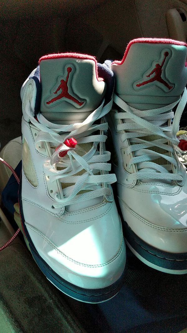 cheap for discount 815bf 245a9 Jordan 5 Retro White, blue and red for Sale in Corona, CA - OfferUp