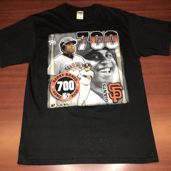 c7936ba7092 Vintage Barry Bonds 700 Home Run Shirt San Francisco Giants Fruit Of the  Loom