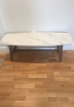 Faux Carerra Marble Coffee Table for Sale in Washington, DC