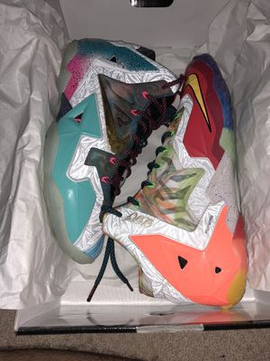 "Nike Lebron 11 Premium ""what the"" size 9.5 for Sale in Arlington, VA"