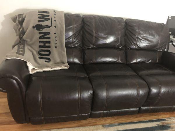 Fine Violino Leather Powered Recliner Sofa For Sale In Bellevue Machost Co Dining Chair Design Ideas Machostcouk