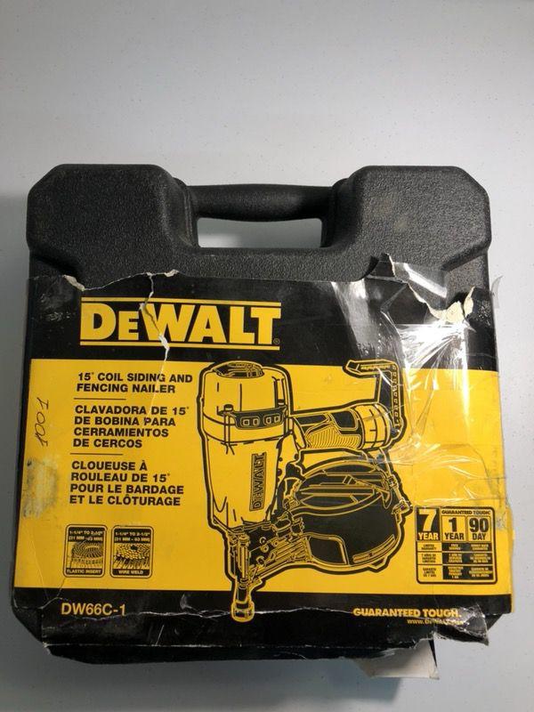 Dewalt Coil Siding and Fencing Nail Gun DW66C-1 (Tools & Machinery ...